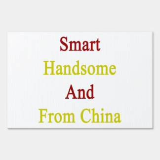 Smart Handsome And From China Lawn Sign