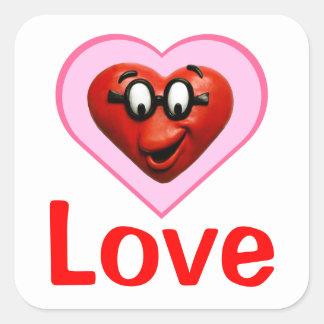 Smart Heart Square Sticker