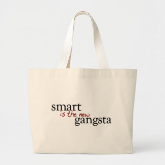 Smart Is The New Gangsta Large Tote Bag