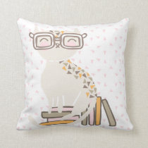 Smart Kitty Throw Pillow