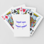 Smart man maind fun in-holiday poker cards