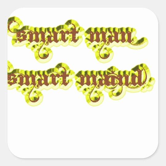 Smart man Smart maind yellow Square Sticker