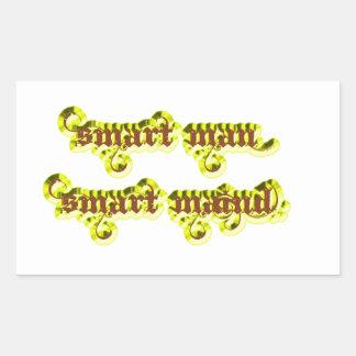 Smart man Smart maind yellow Rectangular Stickers