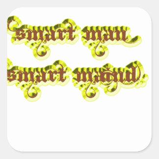 Smart man Smart maind yellow Sticker