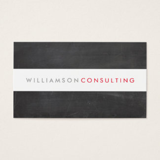 SMART MASCULINE modern type layout chalkboard Business Card