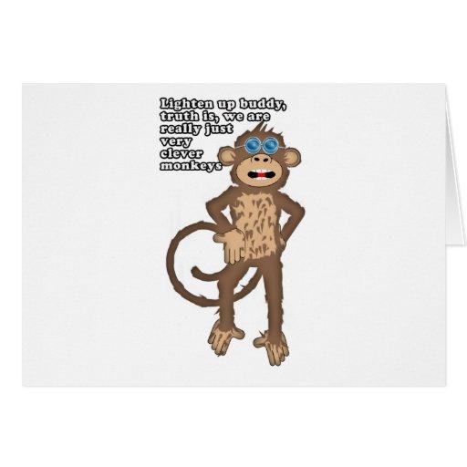 Smart Monkey Greeting Cards
