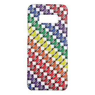 Smart Mouth Rainbow Lips White Background Slant Case-Mate Samsung Galaxy S8 Case