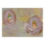Smart owl art legal facts fun unique art painting business card template