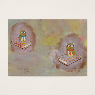 Smart owl art legal facts fun unique art painting business card