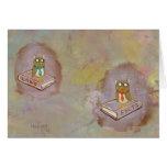 Smart owl art legal facts fun unique art painting cards