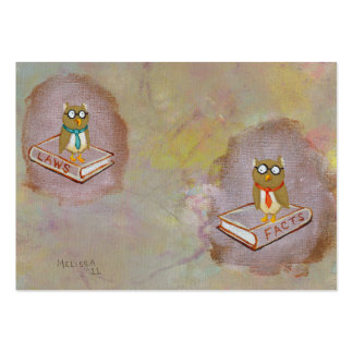 Smart owl art legal facts fun unique art painting large business card