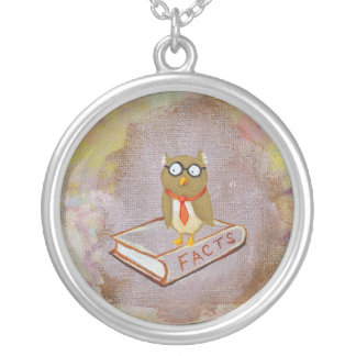 Smart owl art legal facts fun unique art painting custom jewelry