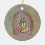 Smart owl art legal facts fun unique art painting christmas tree ornament