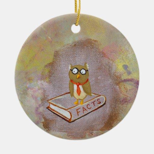 Smart owl art legal facts fun unique art painting ornaments