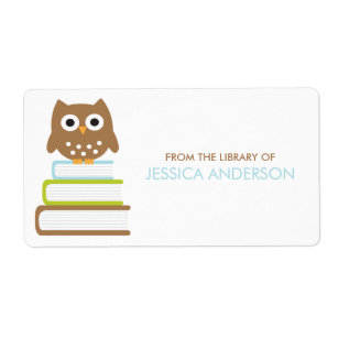 absolutely smart owl items. Smart Owl Bookplates Labels Shipping  Address Return Zazzle