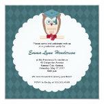 """Smart Owl Graduation Party Invitation 5.25"""" Square Invitation Card"""