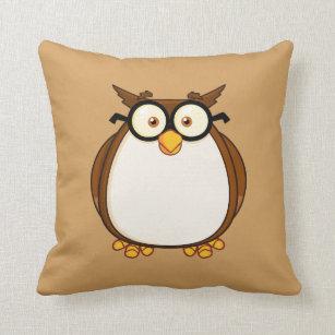 absolutely smart owl items. Smart Owl Throw Pillow Pillows  Decorative Zazzle