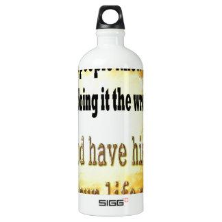 Smart People Aluminum Water Bottle