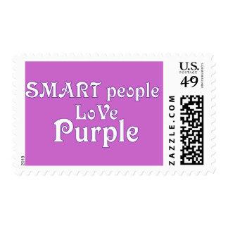 Smart People Love Purple Stamp