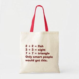 Smart People Math Tote Bag