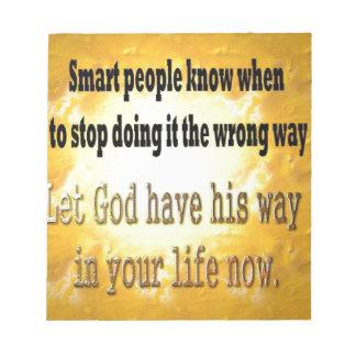 Smart People Scratch Pad