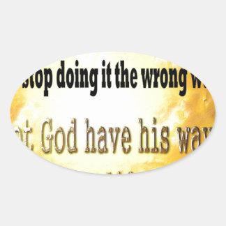 Smart People Oval Sticker