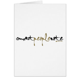 Smart People Vote Stationery Note Card