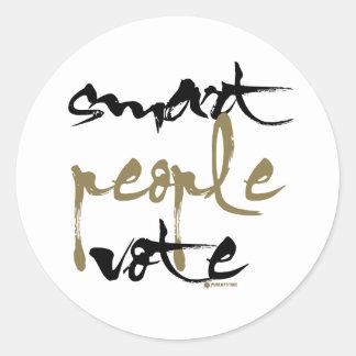Smart People Vote Classic Round Sticker