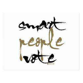 Smart People Vote Postcard