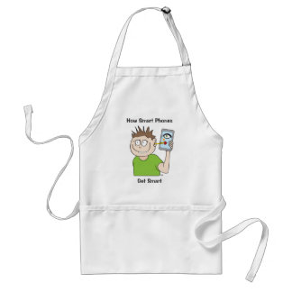smart-phone adult apron