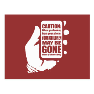 Smart Phone Caution Postcard