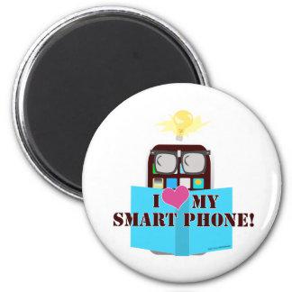 Smart Phone Love 2 Inch Round Magnet
