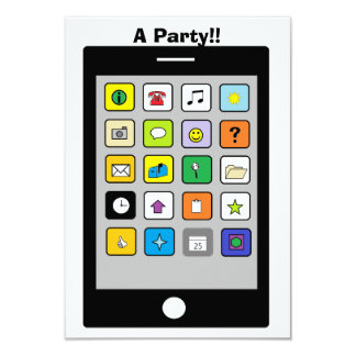 """Smart Phone"" Party Invitations"