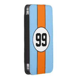 Smart Phone pouch - Racing Powder Blue and Orange iPhone 5 Pouch