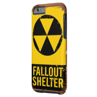 Smart phone that looks like a Fallout Shelter sign Tough iPhone 6 Case