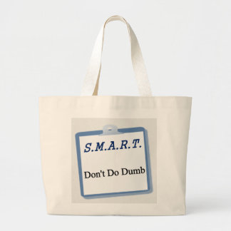 SMART planning process Large Tote Bag