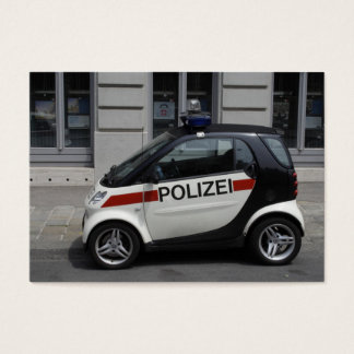 Smart Polizei Auto Business Card