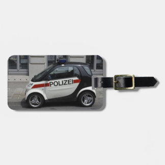 Smart Polizei Auto Luggage Tag