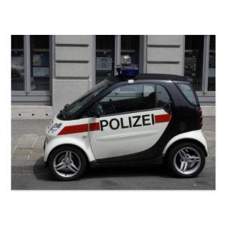Smart Polizei Auto Postcard