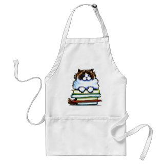 Smart Ragdoll Kitty Books Aprons