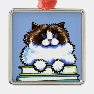 Smart Ragdoll Kitty Books Christmas Tree Ornaments