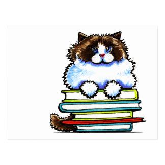 Smart Ragdoll Kitty Books Postcards