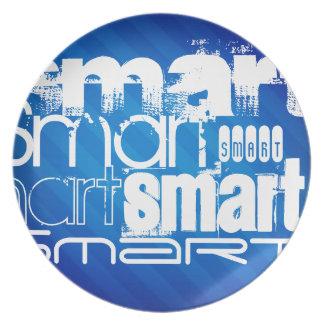 Smart; Rayas azules reales divertidas Platos