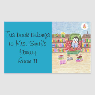 Smart reading penguin library stickers