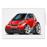 Smart Red Car Card