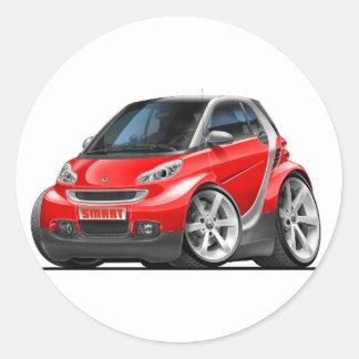 Smart Red Car Classic Round Sticker