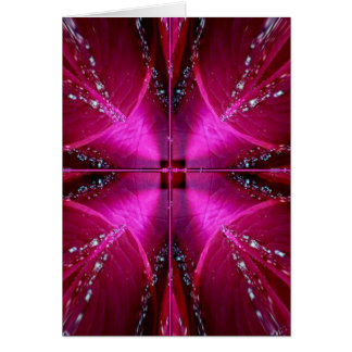 Smart Simple Graphics - Sparkle Red n Pink Rose Card