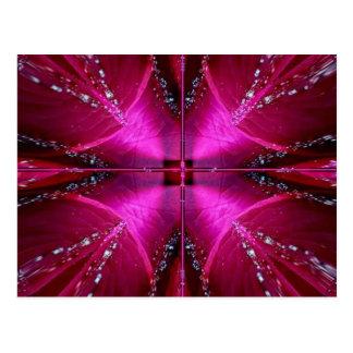 Smart Simple Graphics - Sparkle Red n Pink Rose Postcard