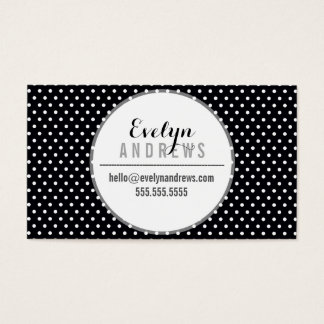 SMART SIMPLE SPOT mini polka dot bold black white Business Card