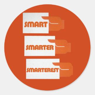 Smart Smarter Round Stickers